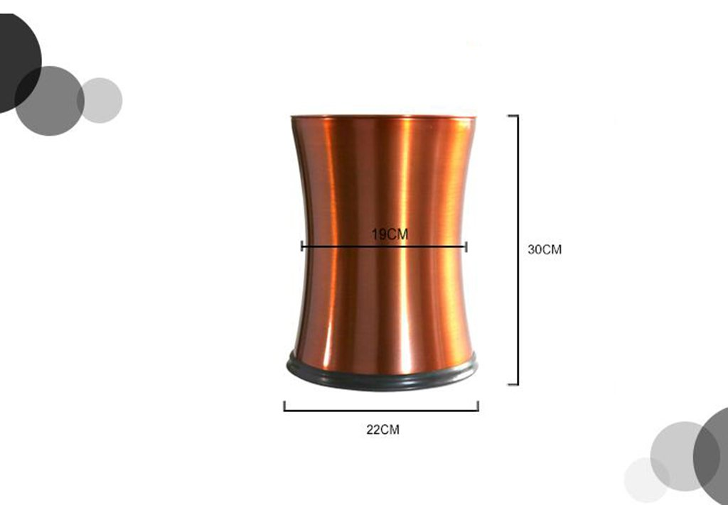 CSQ Stainless Steel Trash Can, Shake Cover Trash Can Metal Flip Cover Trash Can Creative Household Bathroom Bedroom Storage Bucket 2230CM Indoor by Outdoor trash can (Image #2)