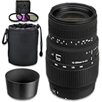 Sigma 70-300mm f/4-5.6 DG Autofocus Macro Telephoto Zoom Lens for Canon SLR Cameras
