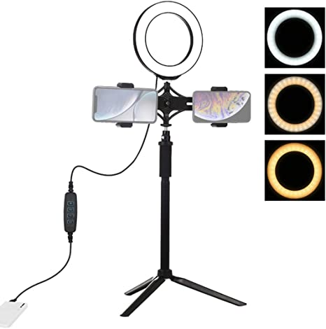 PARIO Aro de Luz con Tripode LED Anillo de Luz Ring Light para ...