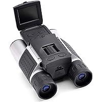 FISHTEC ® Jumelles Caméra Numérique - Ecran HD – Enregistre Photos et Vidéos - Grossissement x10