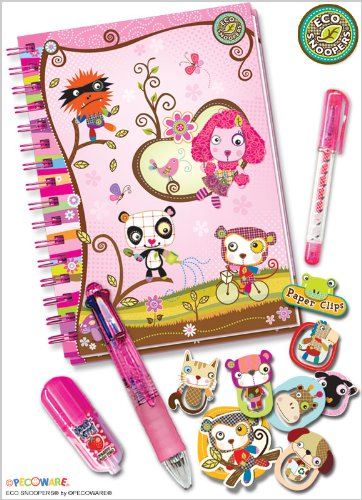Eco Snoopers / Creative Journal with Accessories, Pink