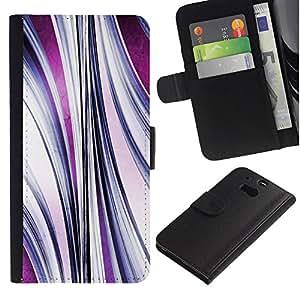 [Neutron-Star] Modelo colorido cuero de la carpeta del tirón del caso cubierta piel Holster Funda protecció Para HTC One M8 [Flujo abstracto púrpura]