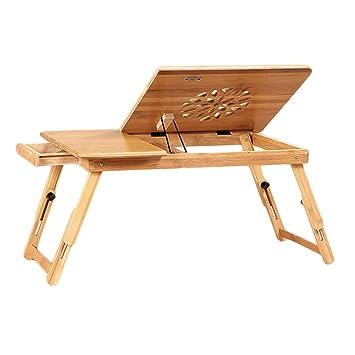 Cama Portátil Mesa Mesa de enfriamiento Cama de bambú Escritorio ...
