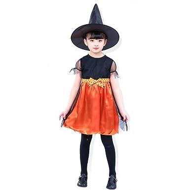 MENGZHEN Disfraz de Bruja para niñas, Traje de araña de ...