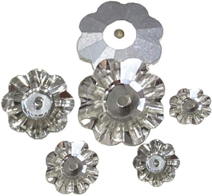 Buena calidad Costura de flores Rhinestone flatback crystal coser en cristal de diamantes de imitación Vestido de baile DIY al por mayor, CRISTAL, 8MM 100PCS