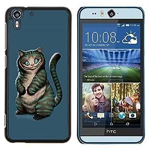 """For HTC Desire Eye ( M910x ) , S-type Gato Mal"""" - Arte & diseño plástico duro Fundas Cover Cubre Hard Case Cover"""