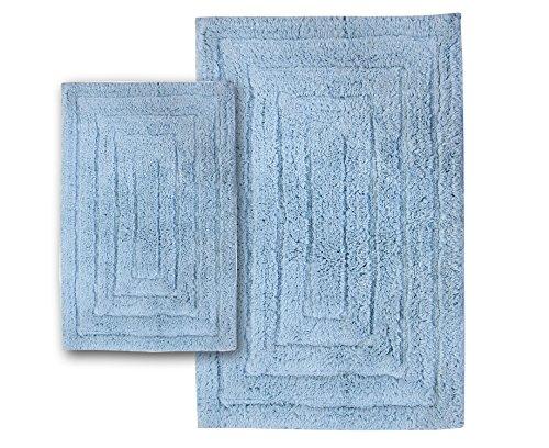 light blue bath rug set - 4