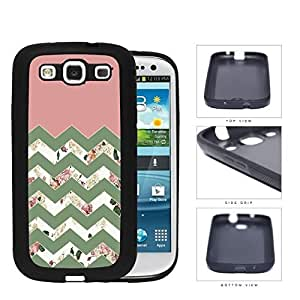 Pink Floral Chevron Design Rubber Silicone TPU Cell Phone Case Samsung Galaxy S3 SIII I9300 by lolosakes