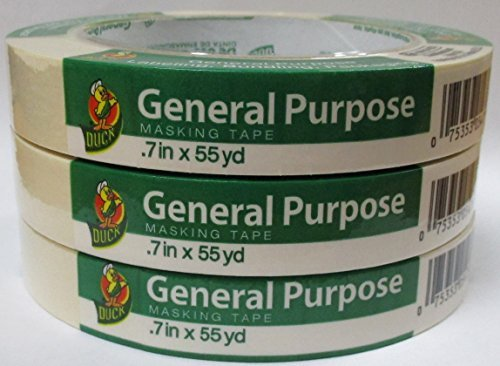 Duck Brand General Purpose Masking Tape .70 in x 55 yards - 3 Pack