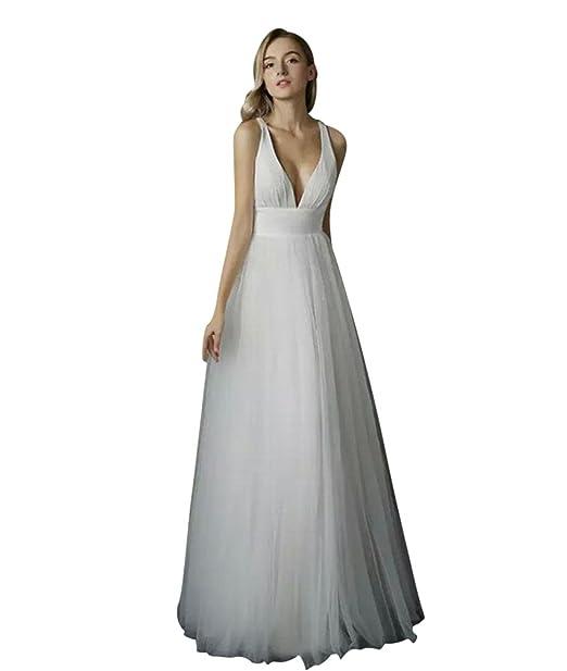 YiiJee Donna Chiffon Vestito Eleganti Abiti da Cerimonia Scollo a V  Profondo Abito da Sera  Amazon.it  Abbigliamento 6b3fb6001da