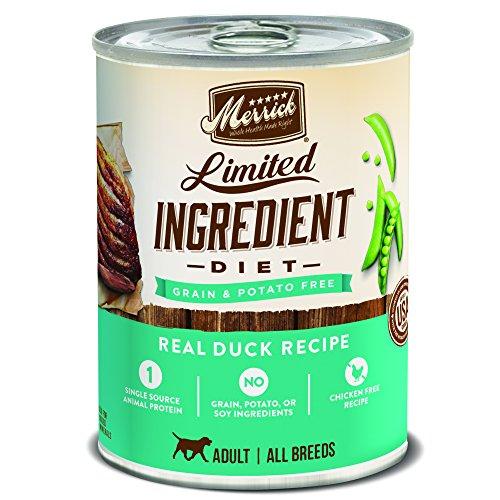 Merrick Grain Free Limited Ingredient Diet Wet Dog Food, 12.