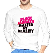 O-Neck Vintage T Shirts Black Sabbath Master Of Reality