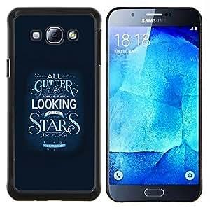 YiPhone /// Prima de resorte delgada de la cubierta del caso de Shell Armor - Estrellas Inspirar Texto motivación Azul - Samsung Galaxy A8 A8000