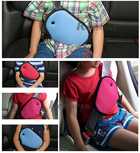 Car Child Safety Cover Pink Color Harness Repositions