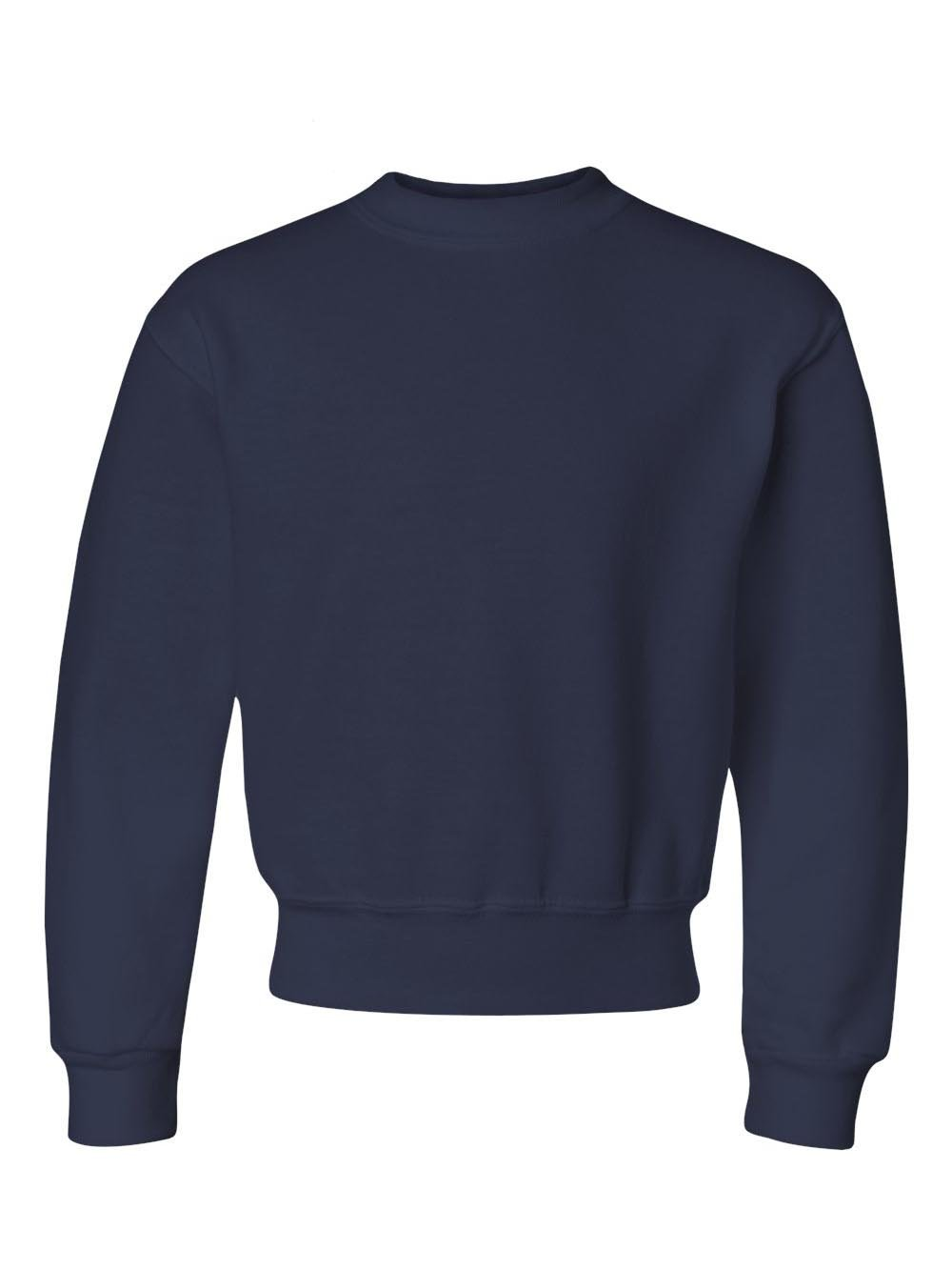 Jerzees Nublend Youth Crewneck Sweatshirt (J. Navy) (L)