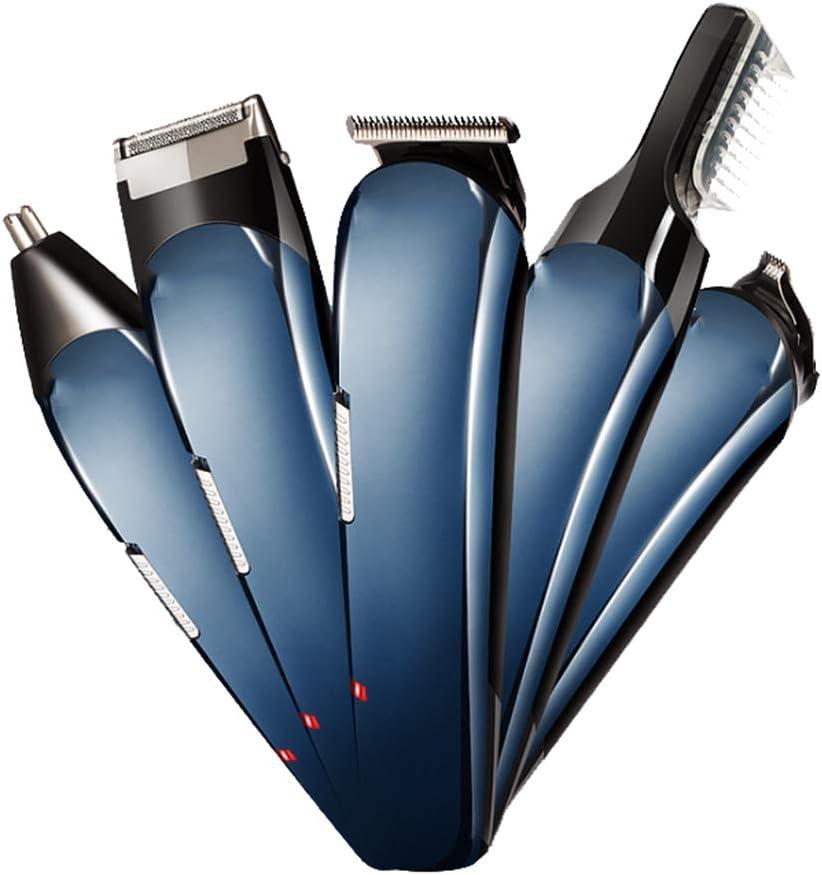 CGBF-5 en 1 Cortapelos,Cortar el Pelo para los Hombres para Rapid de Pelo Recorte de Pelo/Oído/Nariz/Bello Corporal Eléctrico Barba Máquina de Afeitar para Hombres y Uso de la Familia