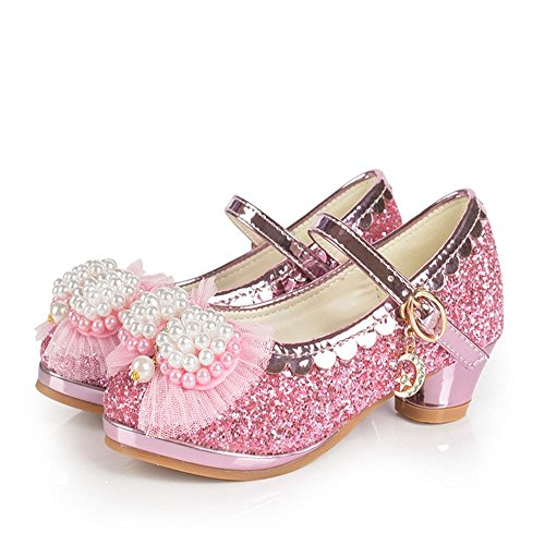 Ychen Mary Jane Kids Girls Glitter Sparkle mid Heels Party Shoes Children's  Bridesmaid shoes wedding shoes: Amazon.co.uk: Shoes & Bags