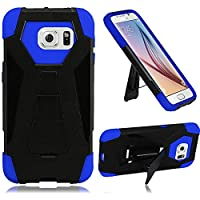 HR Wireless Cell Phone Case for Samsung Galaxy S7 - Retail Packaging - Black/Blue