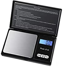 Pocket Jewelry Scale, TechCode 1000g/0.1g High Precision Portable Digital Pocket Scale with Back-lit LCD Display Electronic Weighing/Jewelry Scales Stainless Steel for Accurate Gram & Slim Design