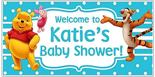 - Winnie the Pooh Baby Shower Banner Personalized Party Decoration