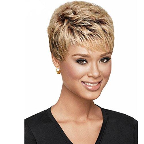 SmartFactory Women Short Natural Permanent Blonde Human Hair