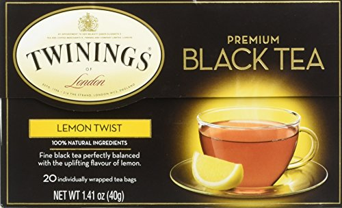 Twinings Premium Black Tea Lemon Twist -- 20 Tea Bags (Lemon Tea Twinings)