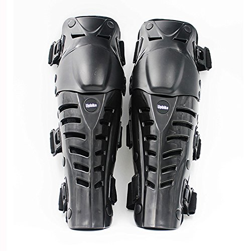 UPBIKE Adults Motorcycle Knee Pads Armor Protective Gear Guard Pads Motocross Racing kneepads use on legs (BLACK) (Leg Armor Motorcycle)
