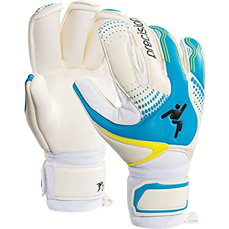 Precision Gk Fusion-x Rollfinger Womens Goalkeeper Gloves Size 5 White cyan 01759c26a2