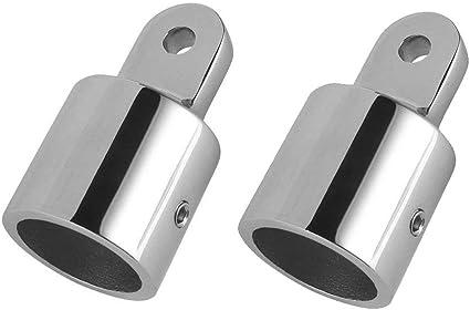 New 2PCS 7//8/'/' Marine Stainless Steel Eye End Cap Bimini Top Fitting Hardware