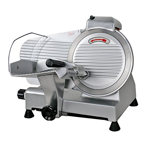 F2C Professional Stainless Steel Semi-Auto Meat Slicer Electric Food Slicer, Deli/Veggies, 240W 530 RPM (Model #01) - Slice Machine