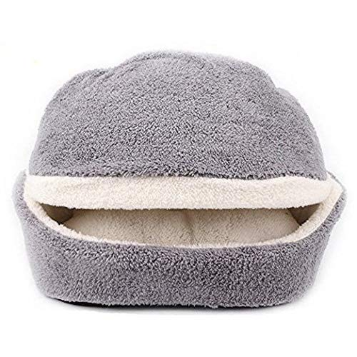 Grey 2 Shellkingdom Cat Bed,Creative Pet Bed for Kitty Cat and Small Dog(Grey 2,Hamburget)