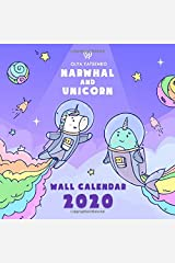 Narwhal and Unicorn Wall Calendar 2020: Wall Calendar With Magic Narwhals, Unicorns, Mermaids and Other Sea Creatures for Kids and Adults Paperback
