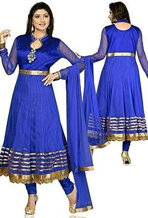 ClickonStyle Blue Casual Kameez & Salwar Set For Women