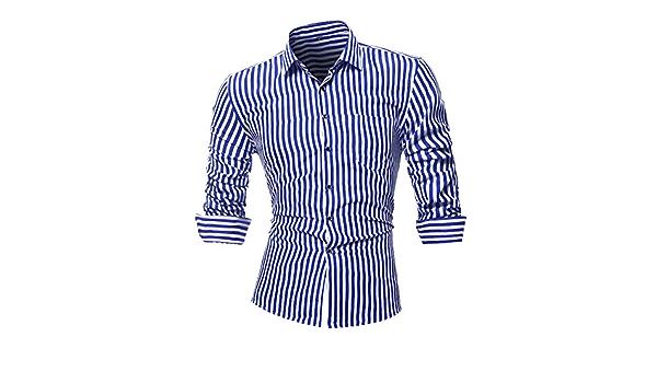 SLYZ Camisa A Rayas De Moda De Otoño para Hombres Camisa De ...