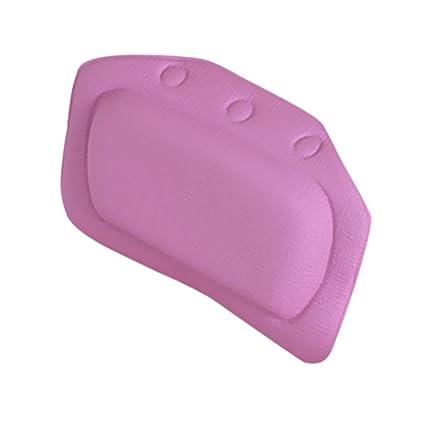 IJARP Home Bathroom Use Neck Spa Support Relax Shower Foam Sponge Soft Bathtub Pillow Bath Headrest Purple