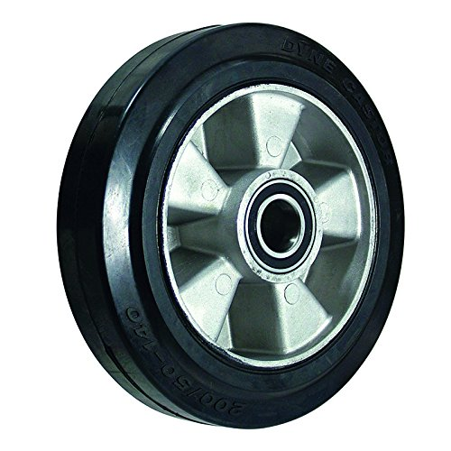 BIL BZH160WERBJM20 Series WER Wheel, Elastic Rubber On Aluminium, 160 mm Diameter, 50 mm Tread, 60 mm Hub, 20 mm Bore, 400 kg/160 kg Load, Black BIL Group Ltd
