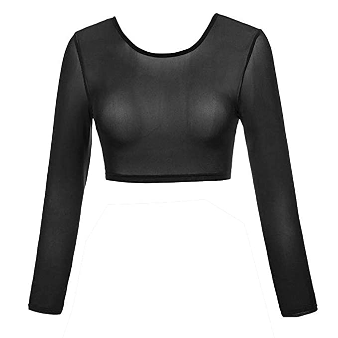 c5492e7effb Women Seamless Arm Shaper, CDolor Plus Size Mesh Blouses Sheer See Through Long  Sleeve Crop Tops for Dress: Amazon.in: Clothing & Accessories