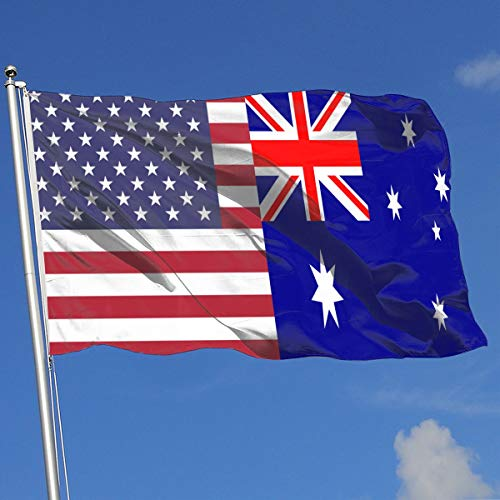 TAOHJS76 Custom Home Backyard Demonstration Flag Australia Flag 100% Polyester Single Layer Translucent Flags 3 X 5]()
