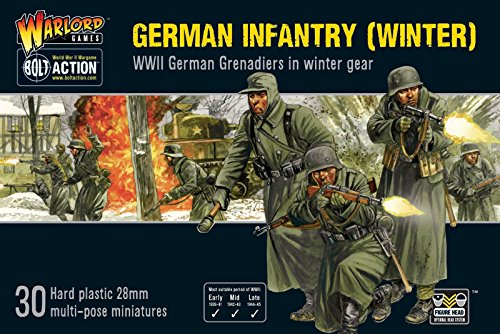 Bolt Action Warlord Games, miniatures - Germans Infantry (Winter) - German Mg42 Machine Gun