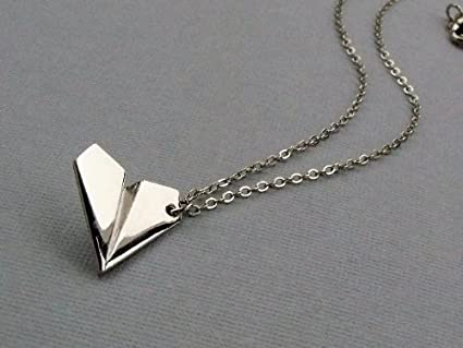 0458bf438f 1D One Direction Harry' Style Silver Paper Airplane Necklace Pendant:  Amazon.ca: Home & Kitchen
