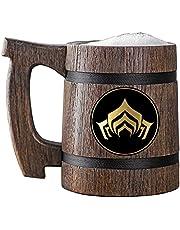 Warframe Beer Mug. Personalized Wooden Beer Mug. Gamer Mug. Wood Tankard. Gift For Him. Beer Stein Wood Gamer Gift. Gift For Husband, Boyfriend Gift #287 / 0.6L / 22 ounces