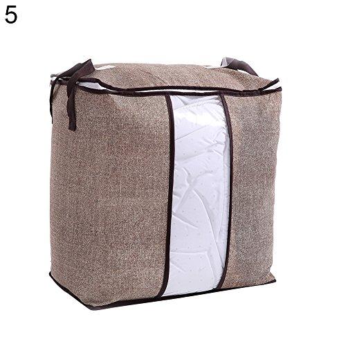 (angel3292 Hot sale Non-Woven Fabric Clothes Quilt Bedding Zipper Storage Bag Holder Pouch Organizer)