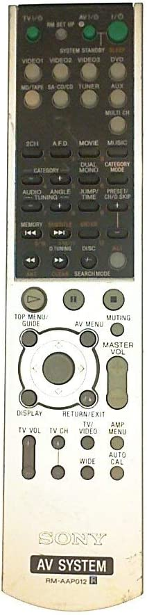 Sony RM-AAP012 AV Receiver System Remote Control for HT7000 HT7550DH HT7000DH STRDG600 STRK7000