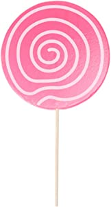 Amosfun Lollipop Prop Large Candy Ornaments Pink Fake Food Festive Photo Props Carnival Cosplay Wedding Birthday Toy Party Supplies