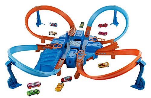 Hot Wheels Criss Cross Crash Track Set [Amazon Exclusive]