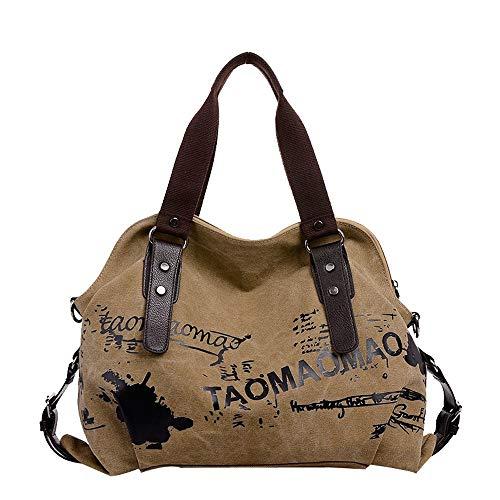 Grande Femmes Rouge Bag sacs Stundent Capacité Sacs Femme Sac grand À A Petit Femmesac Kaki Dodumi Rétro Main Cuir Messenger IxqX86UUw