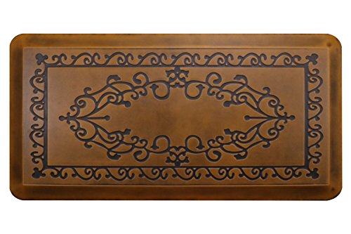Butterfly Kitchen Mat Anti Fatigue Comfort Floor Mats - Perfect For Kitchen and Standing Desks, Non-Toxic, Highest Quality Material, Waterproof, 20 x 39 inches, Light.Antique by Butterfly