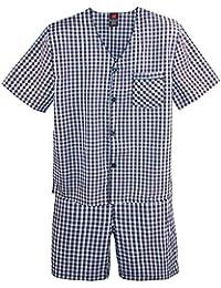 Men's Short Sleeve Short Leg Pajama Set