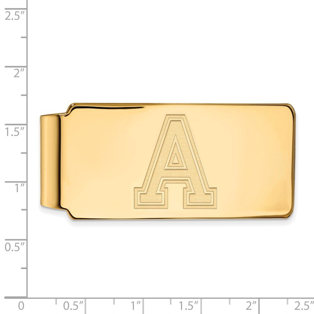 FB Jewels Sterling Silver Gold Plated LogoArt Arizona State University Money Clip