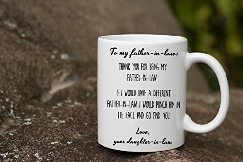 father in law gift from groom thank you punch in the face coffee mug best proud birthday wedding day christmas present from son daughter bride gifts - Father In Law Gifts For Christmas